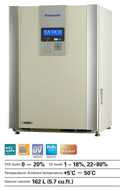 The Panasonic MCO-19M(UV) multi-gas incubator